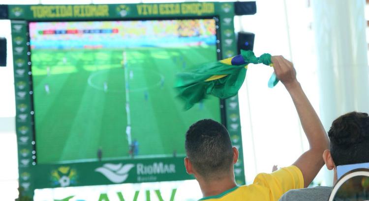 RioMar exibe partida do Brasil contra a Sérvia