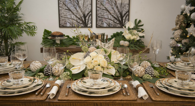 Branco e verde são as cores para as mesas de Réveillon