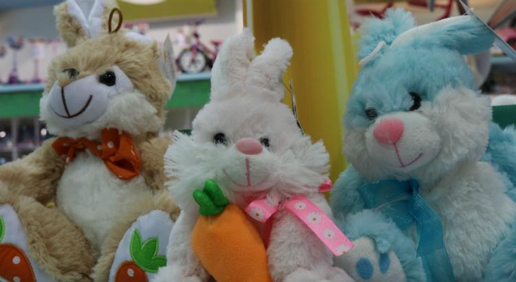 Coelhinhos de pelúcia para os pequenos