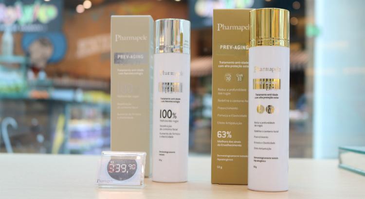 Produtos Prev-Aging em oferta na Pharmapele