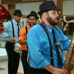 O jazz de New Orleans pelos corredores do RioMar