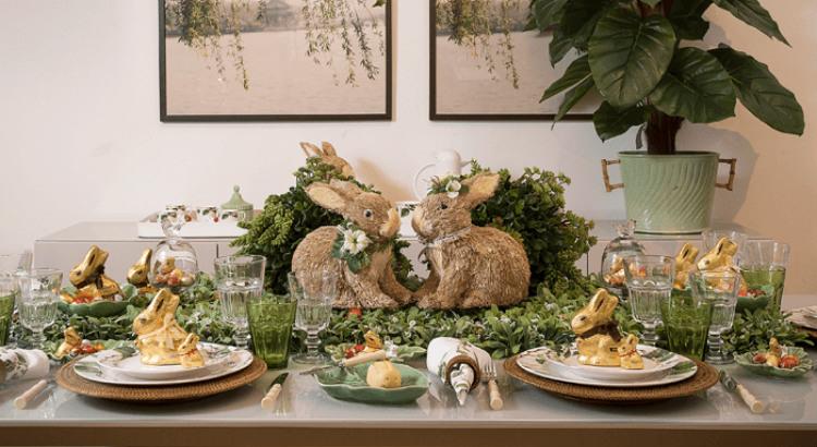 Almoço de Páscoa do domingo inspirado na lenda do coelho
