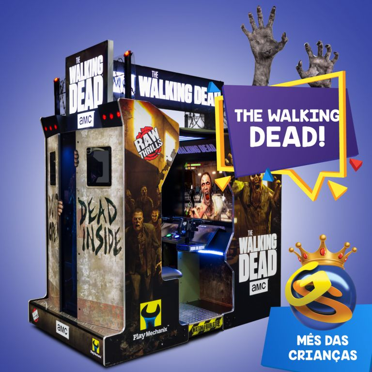 Máquina de The Walking Dead é inédita no Game Station do RioMar