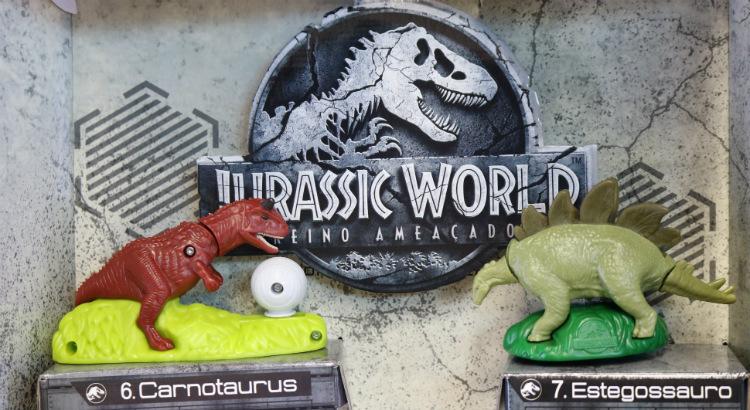 Mc Lanche Feliz: brindes de dinossauros do filme Jurassic Word