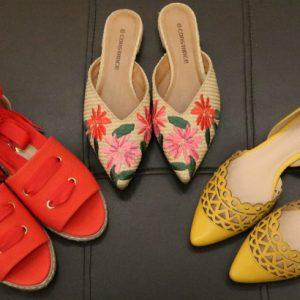 Cordas, cores e bordados nos calçados femininos de primavera/verão