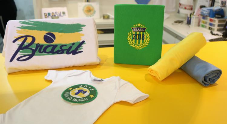 Campanha da Pense e Borde traz bordados para os jogos do Brasil