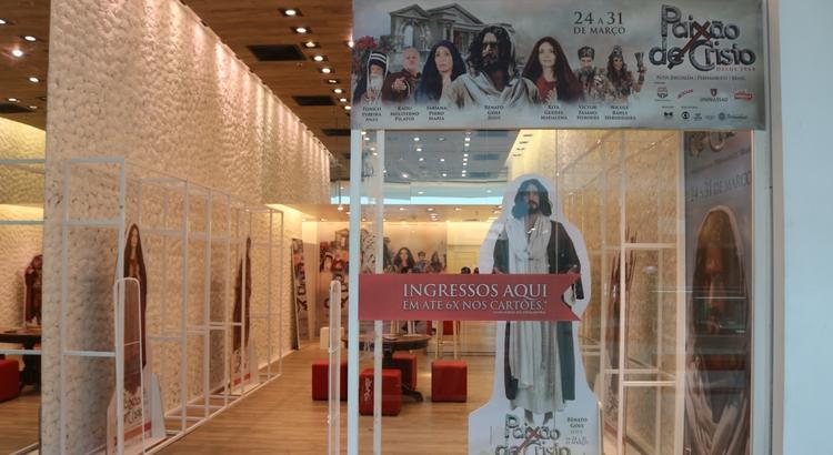 Loja da Paixão de Cristo dispõe de ingressos no RioMar Recife