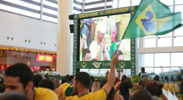 RioMar Recife exibe jogo do Brasil contra a Bélgica