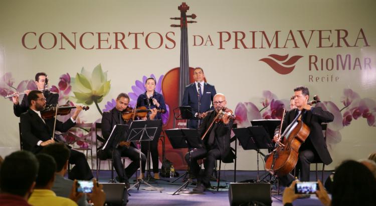 Música clássica ecoa no RioMar no primeiro dia do Concertos da Primavera
