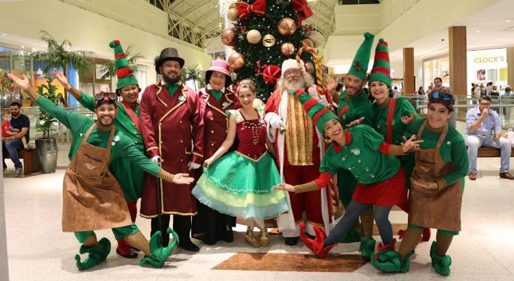 Mais de vinte atores atuam no Natal de Sorrisos do RioMar