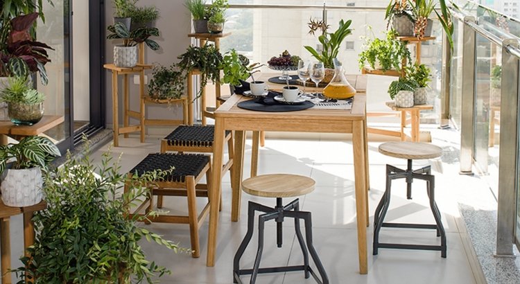 Tok&Stok dispõe de móveis para decorar a varanda