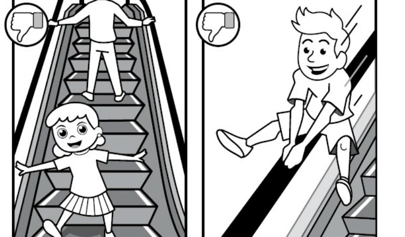 Campanha ensina a usar corretamente elevadores e escadas rolantes