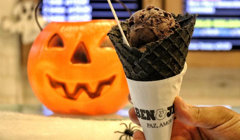 Concentração de chocolate em clima de Halloween na Ben & Jerry's