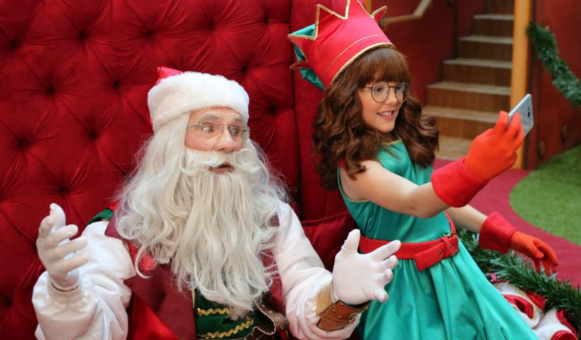 Nina, a ajudante do Noel, espera você no Natal do RioMar