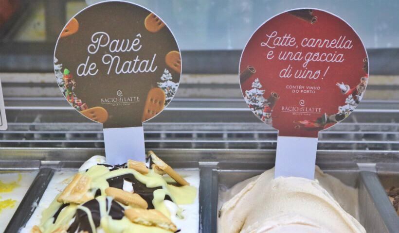 Sabores exclusivos de Natal na sorveteria Bacio Di Latte