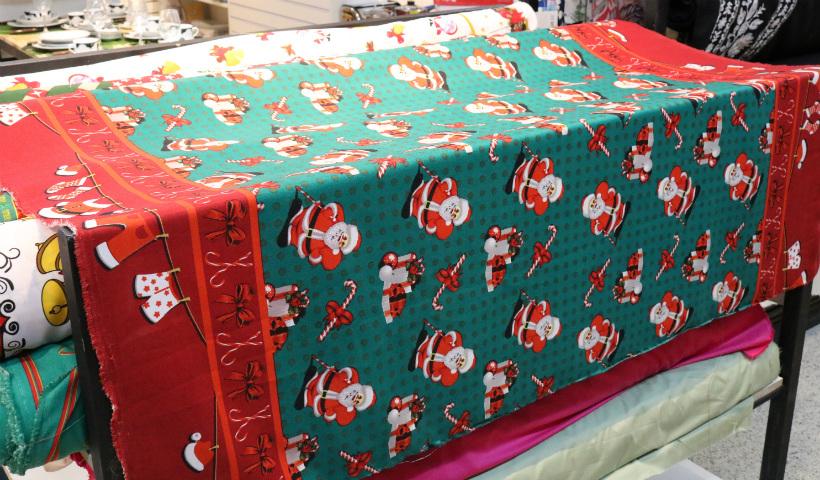 Faça sua toalha temática de Natal com os tecidos da GA+