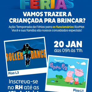 Temporada de férias no RioMar para você e sua família