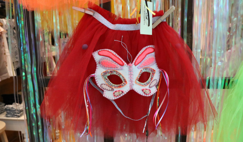Saias e máscaras de Carnaval para os pequenos na Mercatore