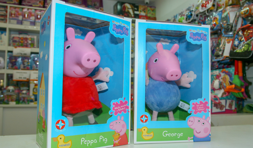 Brinquedos da Peppa fazem o maior sucesso entre os pequenos