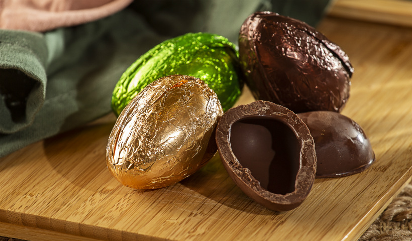 50% de desconto nos ovos de chocolate de Anna Corinna