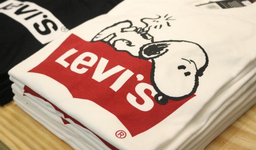 Snoopy e a turma do Peanuts na nova coleção da Levi's