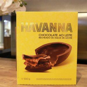 Páscoa Havanna com sabor do doce de leite argentino