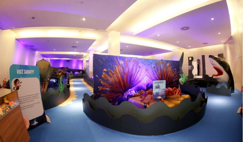 Exposição O Fantástico Mundo Marinho inaugura no RioMar