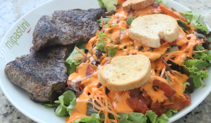 Salada de filé bovino é um dos queridinhos na Mipastini