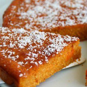 São João fit: receita de bolo de batata doce com coco fresco