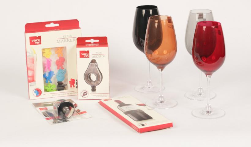 Diferentes acessórios para os amantes de vinho
