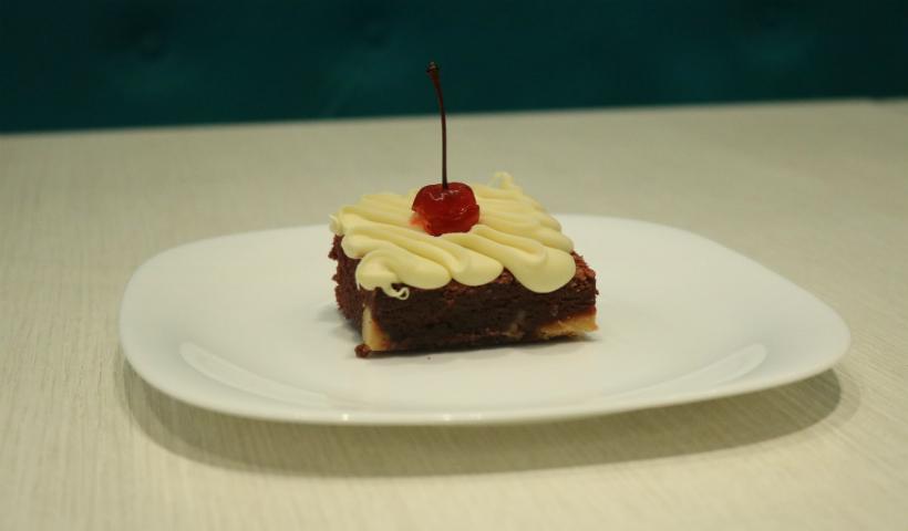 Muito sabor com o brownie Red Velvet na The Brownie Factory