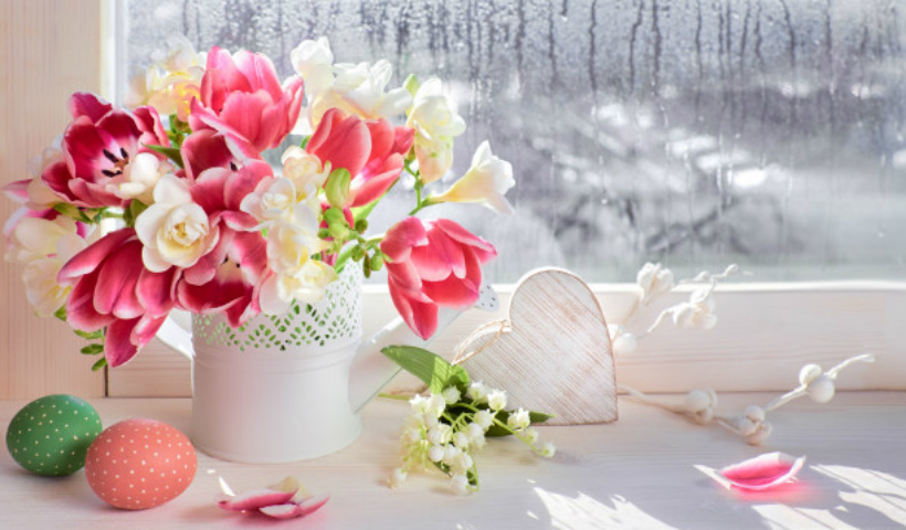 Flores naturais na decoração dos ambientes