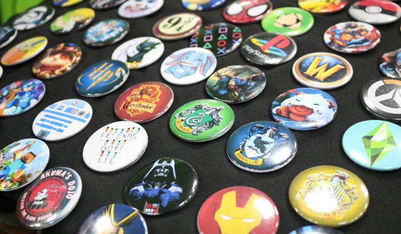 Botons geeks para estampar seu lado nerd