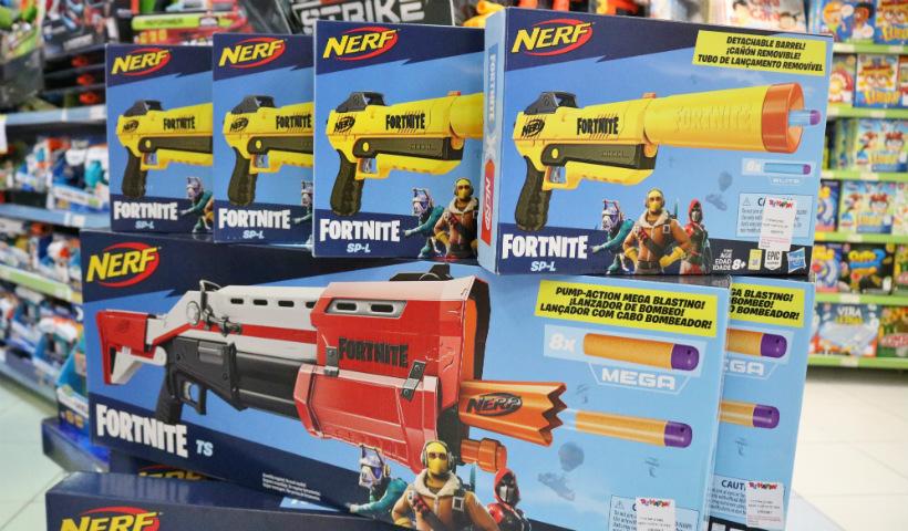 Lançadores Nerf Fortnite fazem sucesso entre a garotada