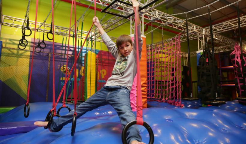 Jump Station faz sucesso entre as crianças