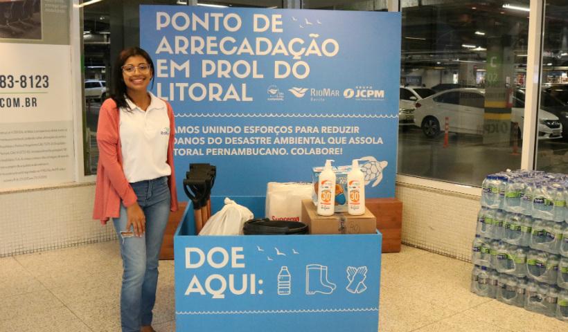 RioMar tem ponto de arrecadação de itens para limpeza das praias