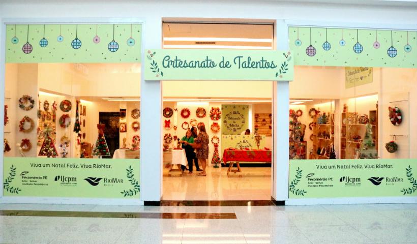 Artesanato de Talentos no RioMar: itens natalinos feitos com amor