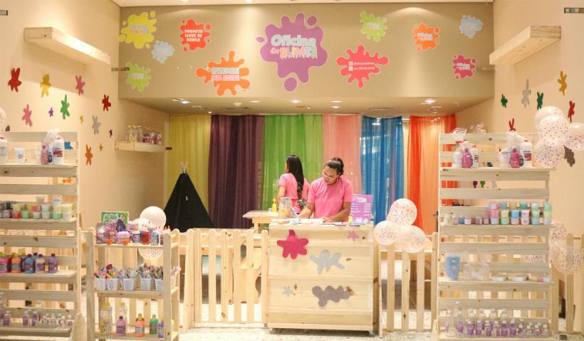Oficina de Slime com pacote para festas de aniversário infantil