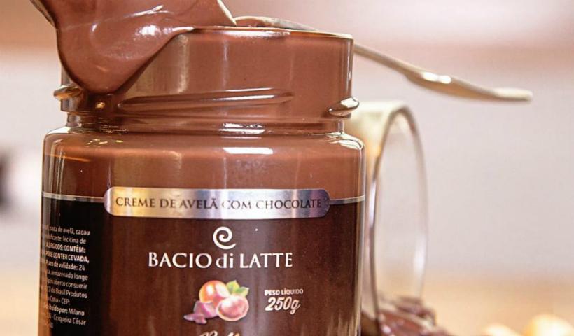 Creme de avelã de chocolate é novidade na Bacio di Latte