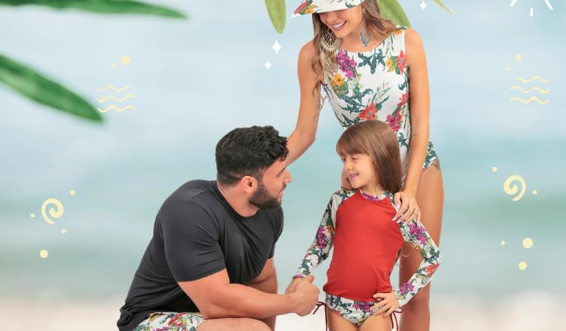 """Verão da Litoraneus para a família sair """"combinandinho"""""""