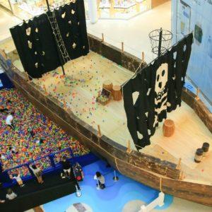 Com quase 20 metros, Navio Pirata revela grandeza