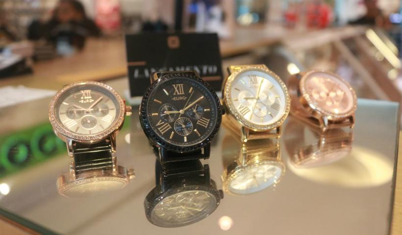 Novas coleções de relógios são destaque no Quiosque Euro