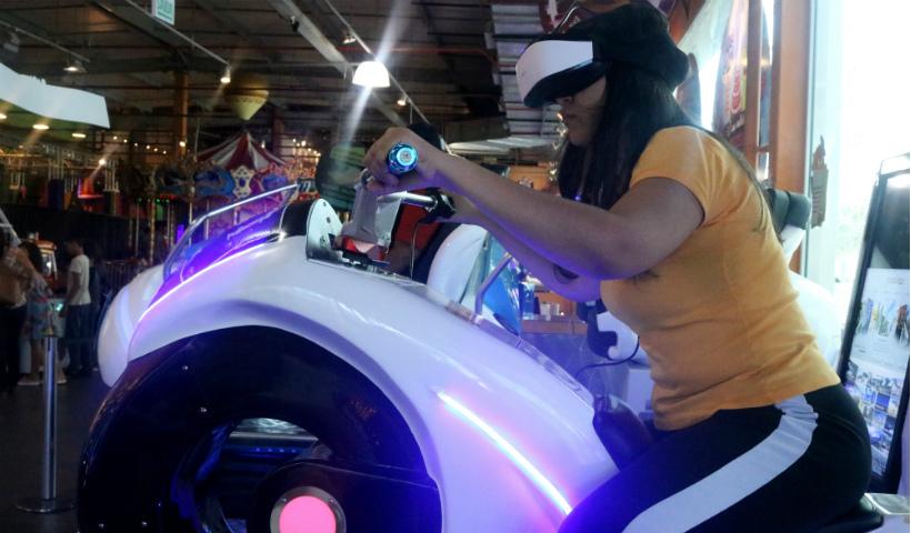 Game Station apresenta moto com realidade virtual