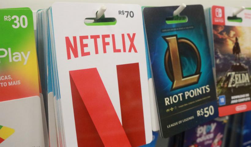 Netflix, games e serviços: gift cards para todos os gostos