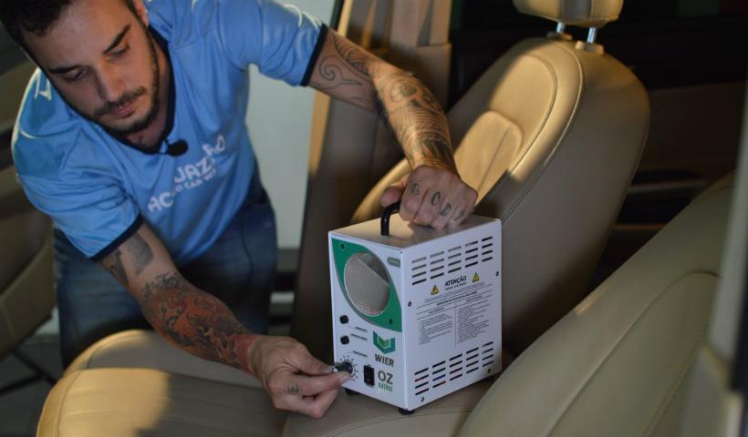 Acquazero destaca serviço de higienização interna para os veículos