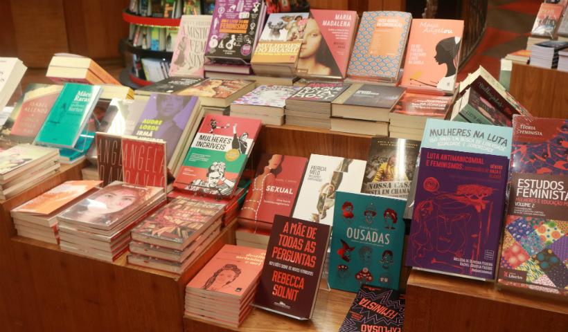 Cultura: estande especial reúne livros escritos por mulheres