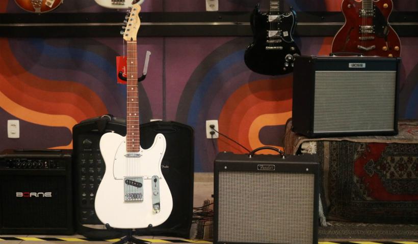 Instrumentos clássicos do rock em destaque na Gig