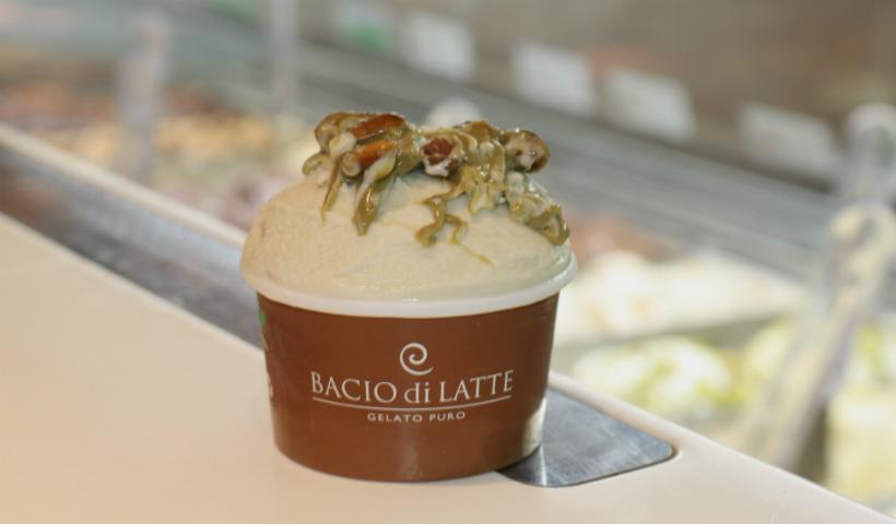 Gelatos especiais de pistache são destaque na Bacio Di Latte