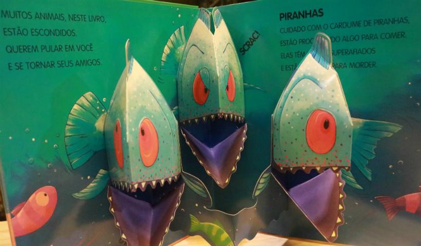 """Espaço """"Eu Amo Ler"""" traz livros infantis com personagens em 3D"""