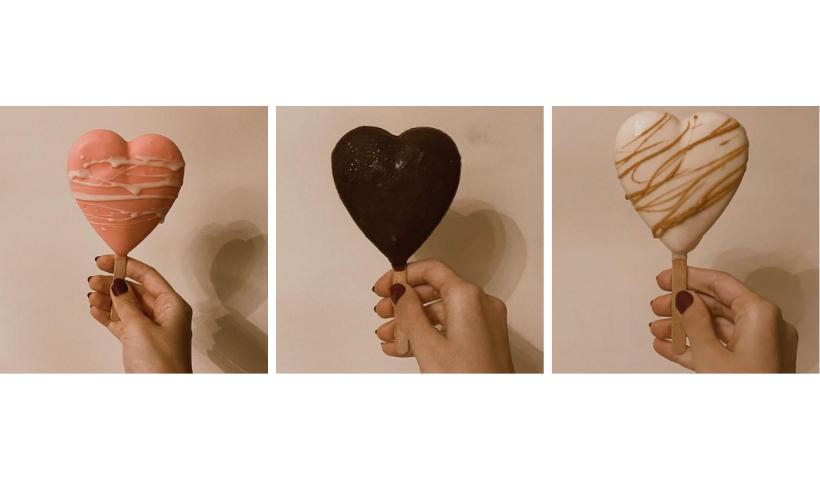 Creminis em formato de coração na Romeo e Giulietta